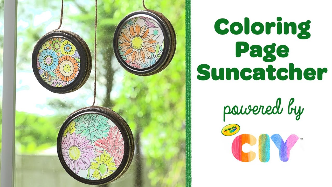 Easy Suncatcher Tutorial, Mason Jar Lid Craft || Crayola CIY