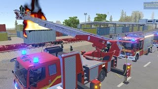 Emergency Call 112 Fire Fighting Simulation - NEW Ladder Truck Mission! 4K