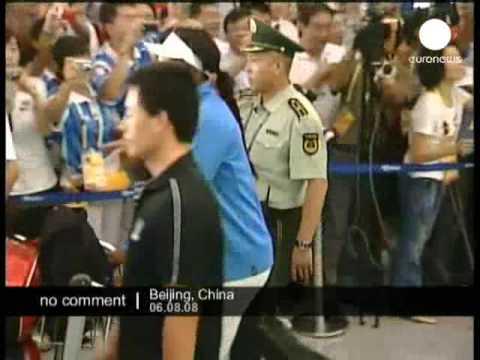 Venus and Serena Williams arrive in Beijing