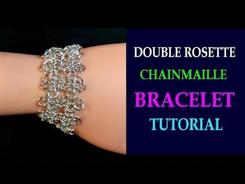 DOUBLE ROSETTE CHAINMAILLE BRACELET TUTORIAL