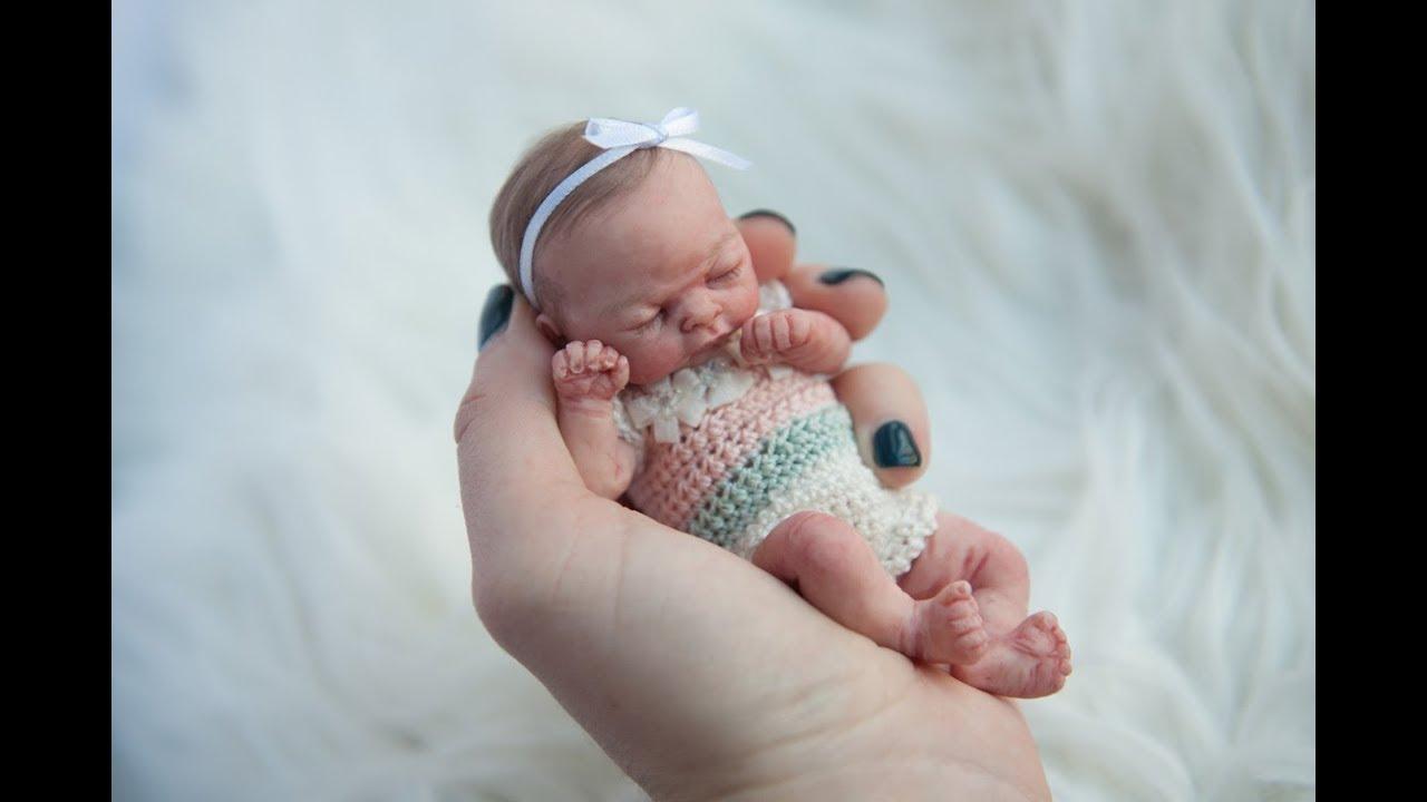 Miniature Silicone Baby Lila. Maria Lynn Dolls