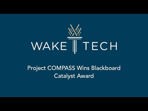 Wake Tech's Project COMPASS Wins Blackboard Catalyst Award