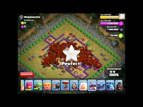 Clash of Clans - 300 Dragons! (Slightly Overpowered)