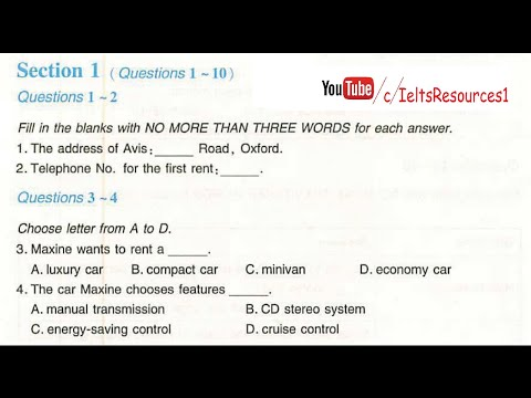 Ielts Listening Test From Real Exam #18 With Key