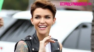Ruby Rose Greets Fans & Signs Autographs At Extra 7.8.15 - TheHollywoodFix.com