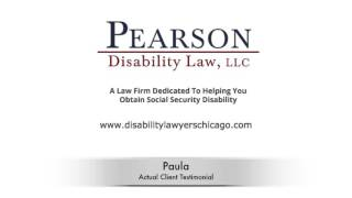 Pearson Disability Law, LLC Video - Chicago Social Security Attorney Testimonial | Illinois Disability Lawyer