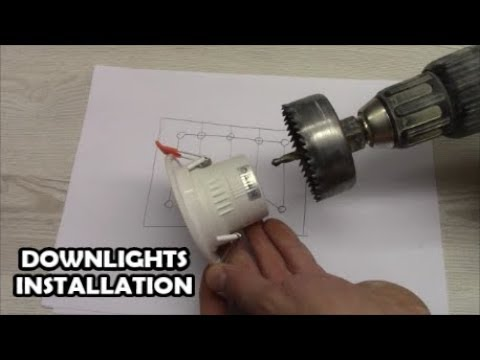 How To Install Downlights Led Spotlight, Ceiling Spot Light Wiring Diagram