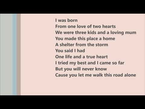 Michael Schulte - You Let Me Walk Alone (LYRICS)