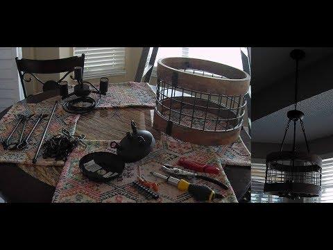 Anmytek Round Wooden Chandelier Light Fixture Installation Guide DIY Help