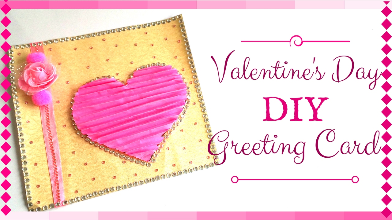 New Pink Valentine S Day Greeting Card Easy And Simple Gift Card