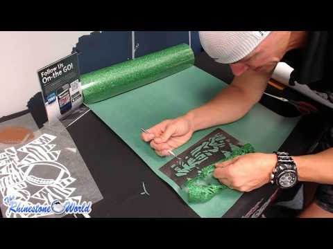 How To Make A Custom Glitter Football Mom Shirt With A Heat Press And Vinyl Cutter