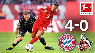 Coutinho's First League Goal & Lewandowski Brace I Bayern München vs. 1. FC Köln I 4-0 I Highlights