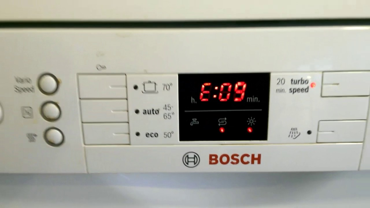 Bosch Activewater Eco Dishwaser Failure Error E 09 Youtube