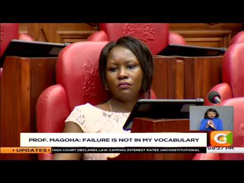 Prof. Magoha: failure is not in my vocabulary