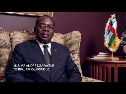 H.E. Mr AndreNzapayeke, Ambassador of the Central African Republic to South Africa