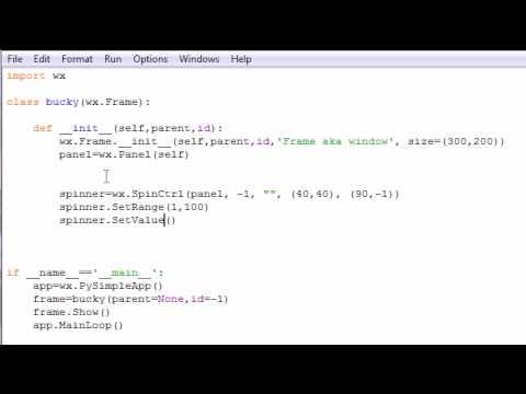 wxPython Programming Tutorial - 11 - Spinners
