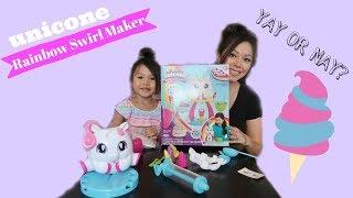 Gambar cover DIY Unicone Rainbow Swirl Maker Unbox and Review