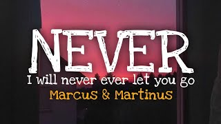Never Marcus Martinus Lyrics I Will Never Ever Let You Go Tiktok Song Youtube