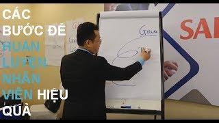 Trainer Phan Hữu Lộc chia sẻ về Kỹ năng Huấn luyện và kèm cặp nhân viên