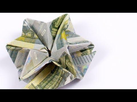 Geld falten STERN, Geldgeschenk zu Weihnachten originell verpackt!