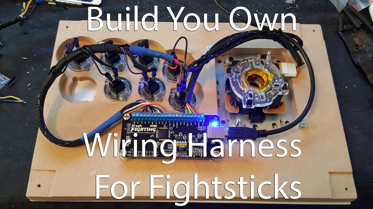 diy fightstick wiring harness for buttons youtube. Black Bedroom Furniture Sets. Home Design Ideas