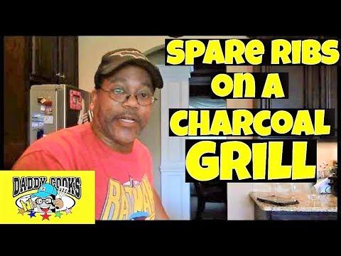 BBQd Spare Ribs on a grill