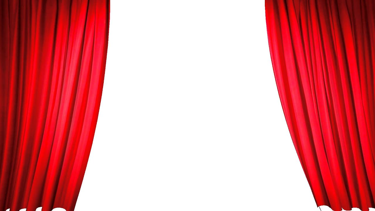Red stage curtains open - Red Stage Curtains Open