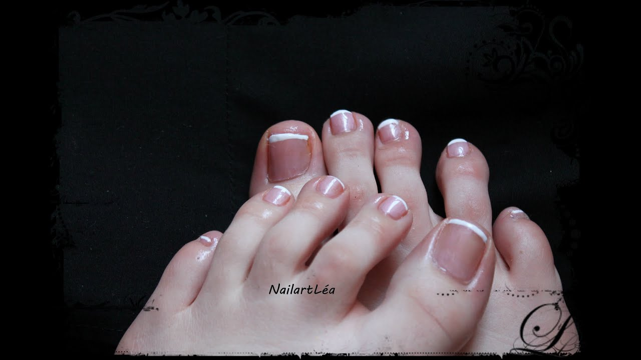 tutoriel nail art 29 french manucure pied youtube. Black Bedroom Furniture Sets. Home Design Ideas