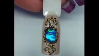 gioiello/pietra in gel con foil (applicazione foil)-liquid stone