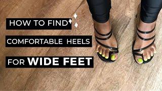 platform heels for wide feet