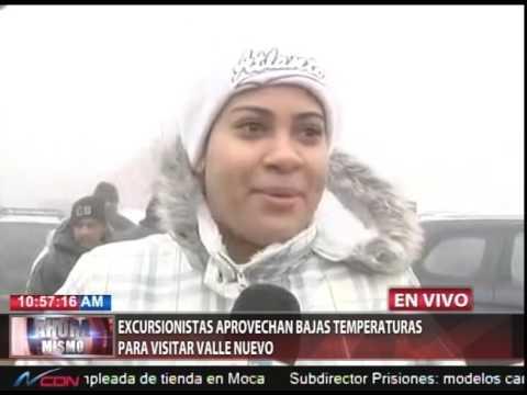 Excursionistas aprovechan bajas temperaturas para visitar Valle Nuevo