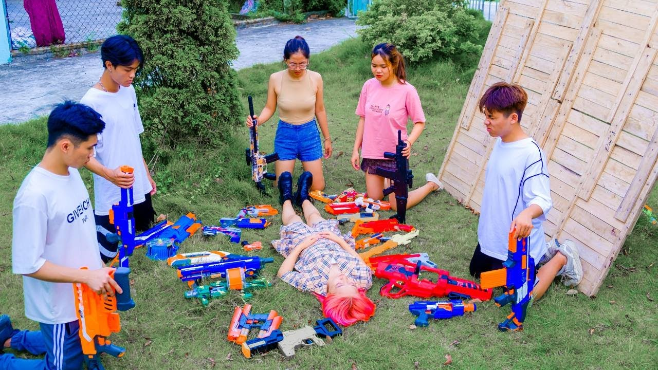 AVG Nerf War :  Snipers Girl SEAL X Warriors Nerf Guns Fight Bad Team destroy confidential documents