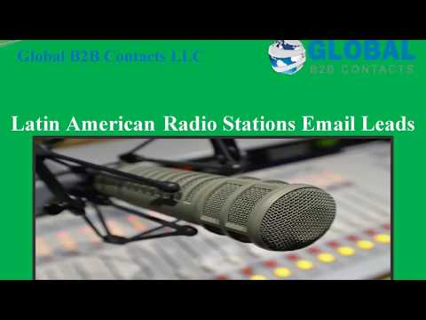 Latin American Radio Stations Email Leads