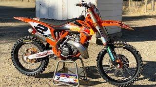 Motocross Action tests Cooper Webb39s Factory KTM 300SX 2 Stroke