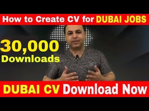 How to create CV for Dubai Jobs, Make CV in 3 steps 100% Guaranteed