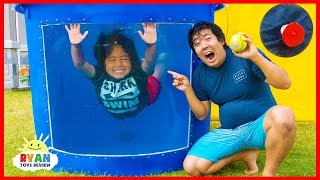 Dunk Tank Challenge Family Fun Games with Ryan ToysReview!!! Video