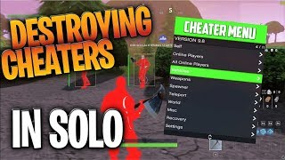 Fortnite Battle Royale: Destroying Two CHEATERS In Solo Mode