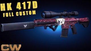 Contract Wars - обзор HK 417D Sniper (кастом)
