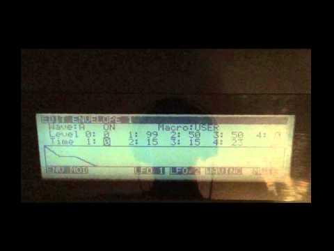 Korg Wavestation programming.. plucked sound
