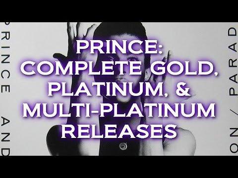 PRINCE - SURPRISING GOLD, PLATINUM, MULTI-PLATINUM RELEASES