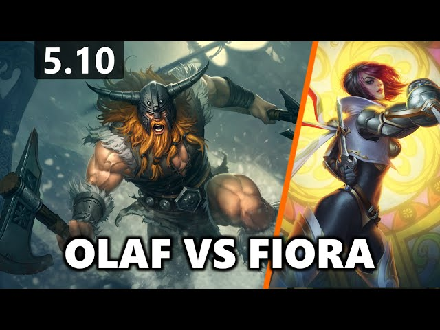 Olaf Top vs Fiora (Ranked Solo - Patch 5.10)