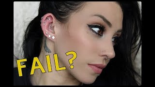 Changing My Ear Piercings...AGAIN! | OUCH!