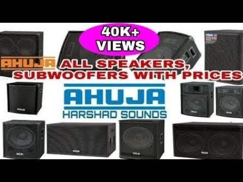 AHUJA all dj speakers and subwoofers with prices