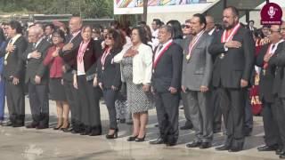 Tema: Izamiento de Banderas y homenaje a Fray Tomás de San Martín por el 466 Aniv. de la UNMSM