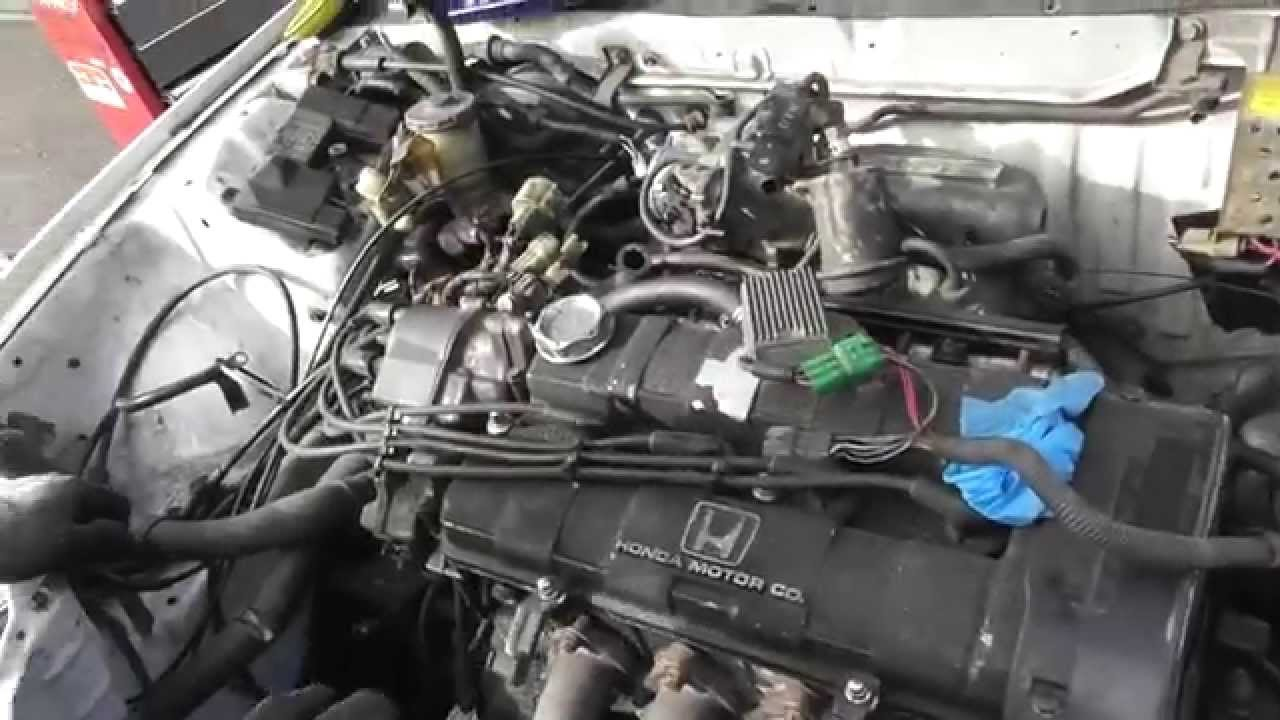 tcg honda civic ef part  da engine removal youtube