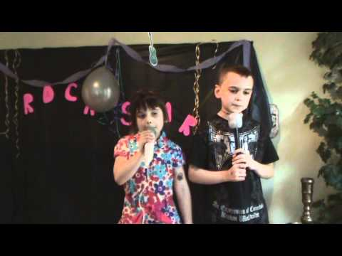 Maile and Maxen Duet - Rock Star Birthday Party.wmv