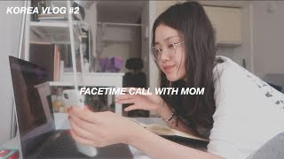 Download Video Korea Vlog | FaceTime call with mom, trying to cook Korean food, heart to heart talk MP3 3GP MP4