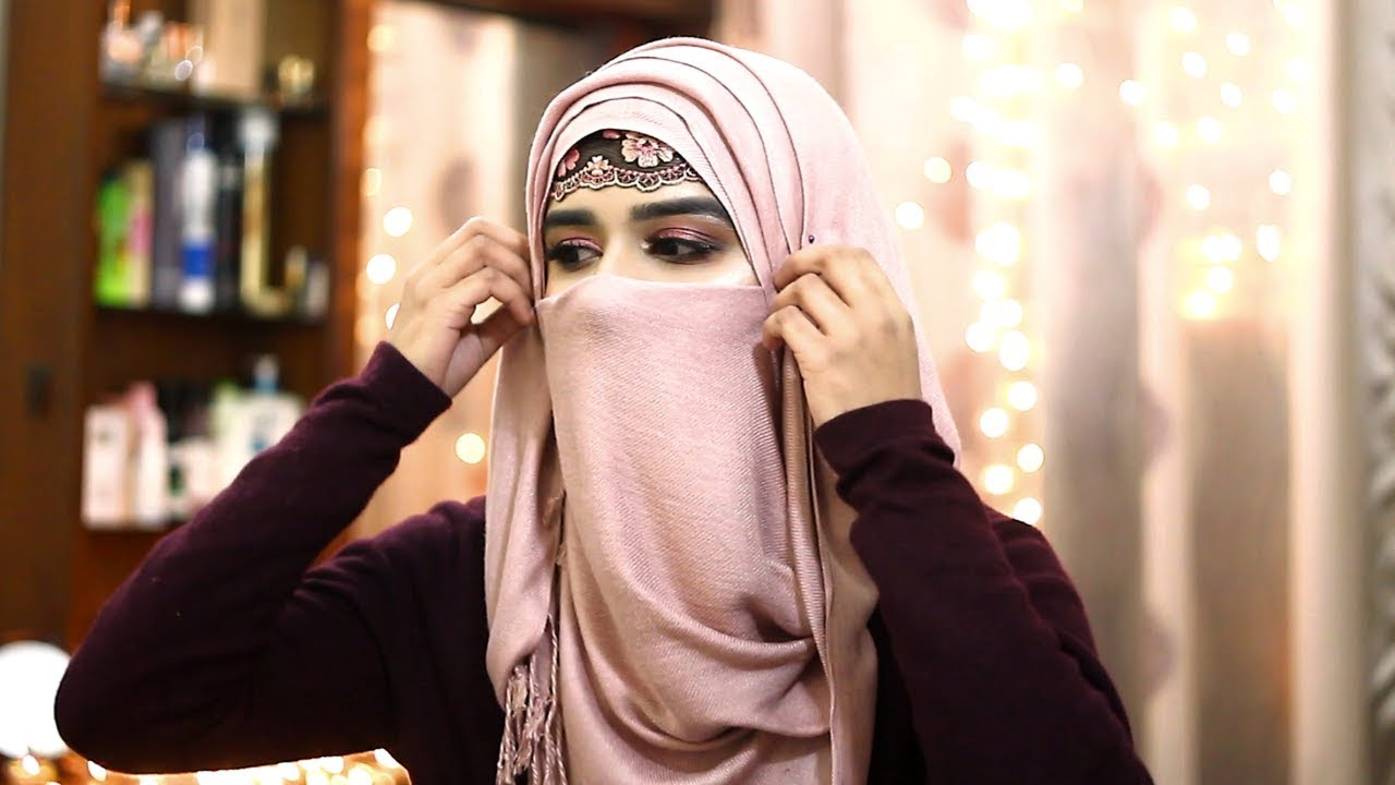 Quick Easy Fancy Party Niqab Style For Winter 2019 5 Minute Elegant Niqaab Mika Hasan Youtube