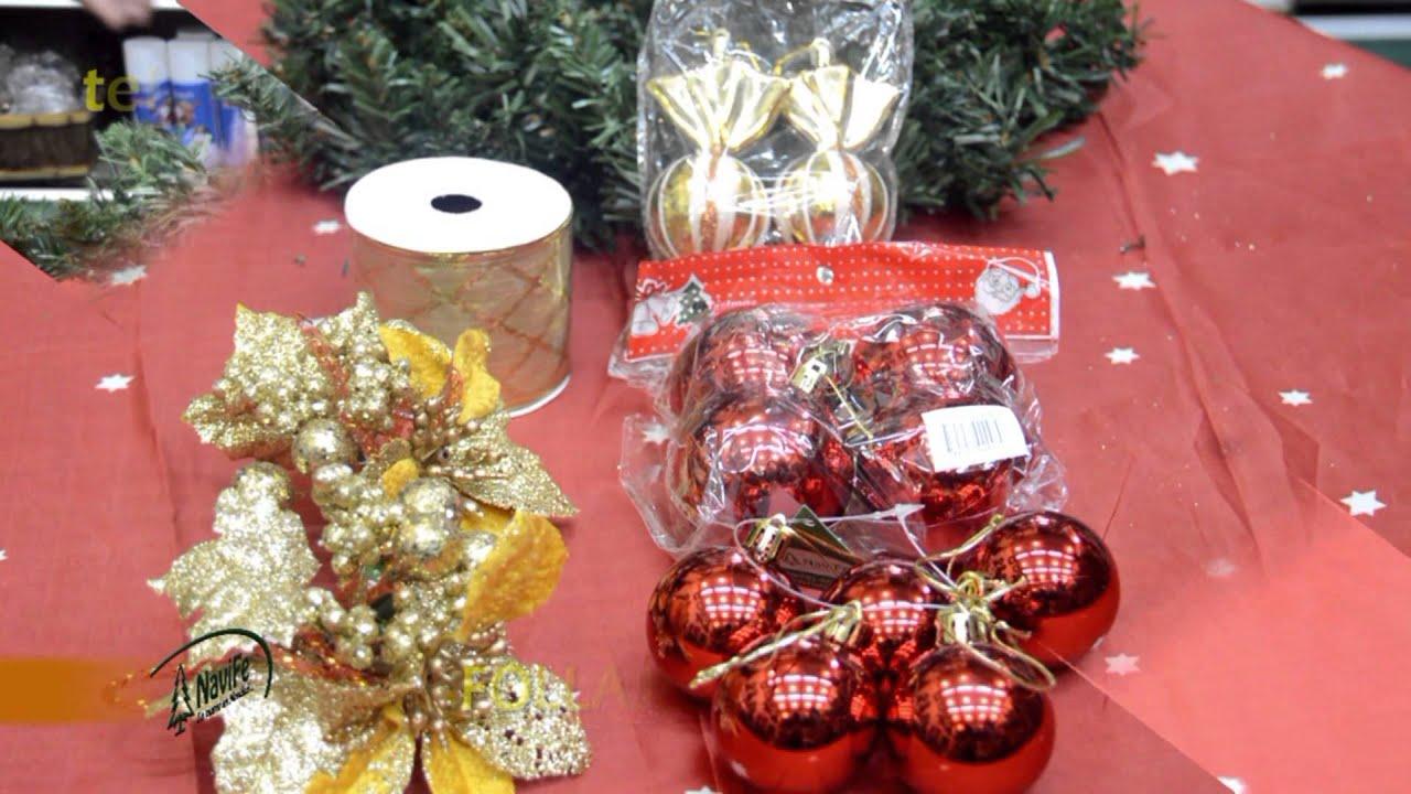 C mo armar una corona o centro de mesa de navide o youtube - Centro de mesa navideno manualidades ...