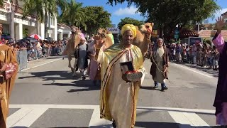 The Three Kings parade marches down Calle Ocho